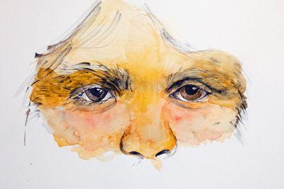 Anna Alm maalasi miehistä henkilökuvia, joista hän korosti ja häivytti henkilöllisyyden