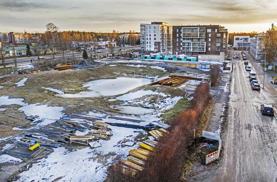 Karjasillan kaupunginosassa sijaitseva kortteli numero 50 on kaavoitettu kymmenelle kerrostalolle. Toistaiseksi Lekatien viereen on valmistunut kolme rakennusta.