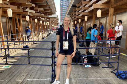 """Oulun Pyrinnön Elina Lampela, 23, on mukana Tokion olympialaisissa, mutta se on kaikkea muuta kuin itsestäänselvyys: """"Alamäki jyrkkeni koko ajan"""""""