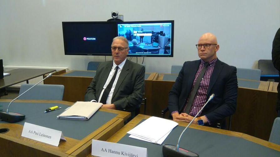 Asianajaja Leinonen ja edunvalvojana on Kivijärvi
