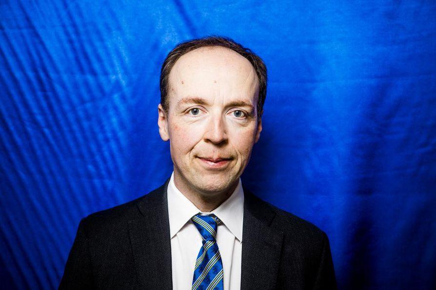 Jussi Halla-ahon (ps.) mukaan puolueilla on vapaa valinta, jos ne eivät halua tehdä perussuomalaisten kanssa hallitusyhteistyötä. Arkistokuva.
