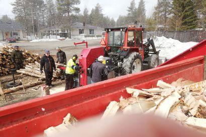 """Lions Club Kuusamo Kitka teki vuosittaisen halkoprojektinsa: """"Tuntui, että enemmällekin määrälle olisi ollut tarvetta"""""""