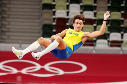 Ruotsin Armand Duplantis odotetusti seiväshypyn olympiavoittajaksi – uusi ME-tulos 619 oli todella lähellä