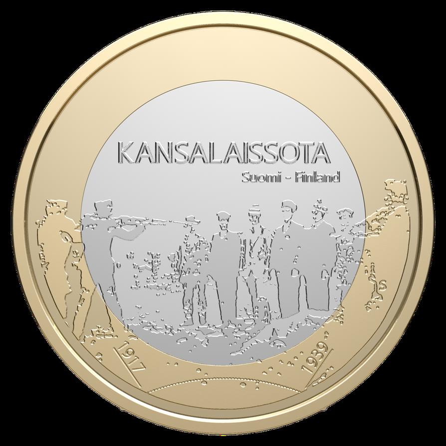 Suomen itsenäisyyden juhlavuoden ensimmäinen juhlaraha.