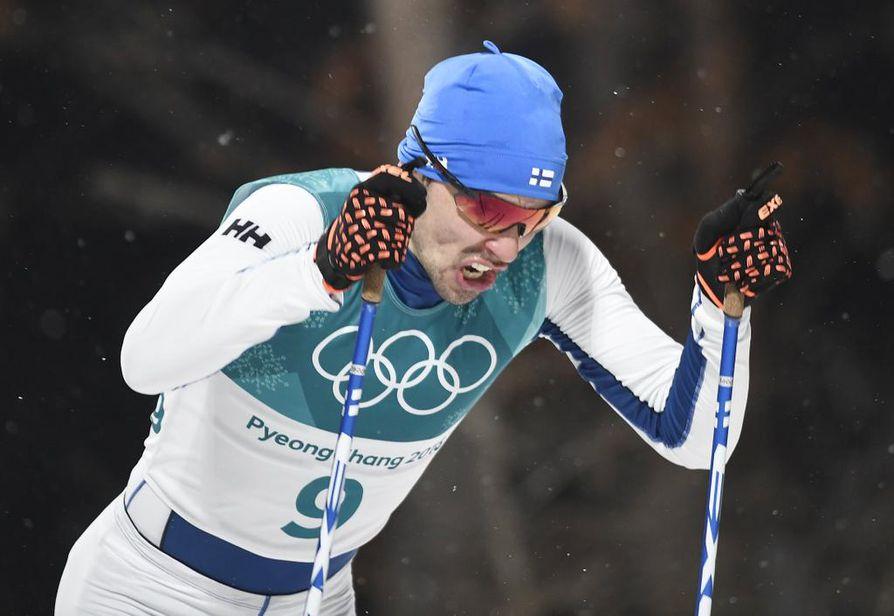 Ristomatti Hakola ylsi ainoana suomalaisena finaaliin sprinttihiihdoissa.