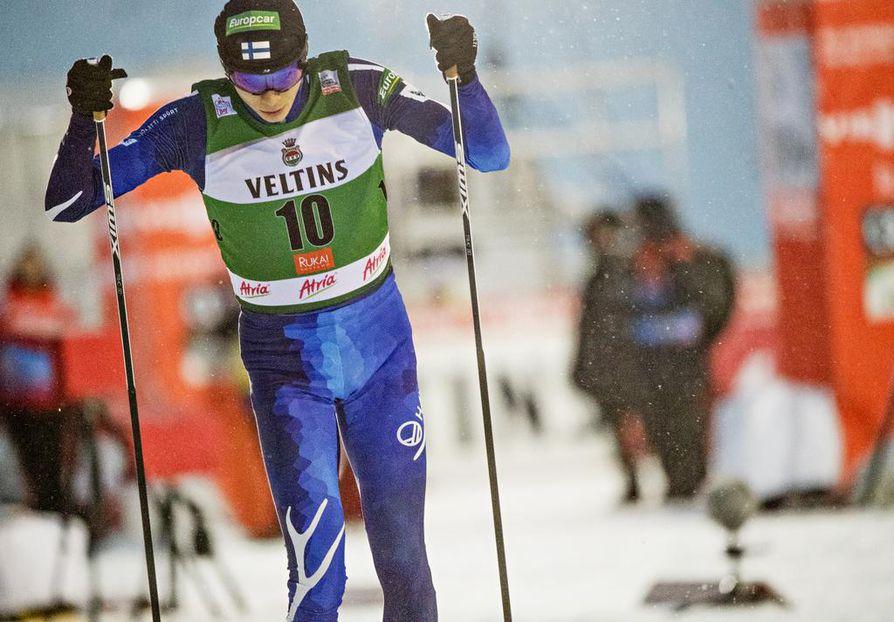 Eero Hivonen oli kolmas Trondheimin maailmancupissa keskiviikkona. Arkistokuva.