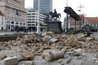 Voimakas maanjäristys iski Kroatiaan – ihmisiä pyydettiin poistumaan kodeistaan, mutta pitämään etäisyyttä toisiinsa koronaviruksen takia