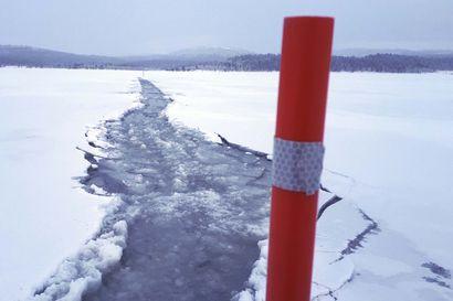Luonto kurittaa tänä talvena Ylä-Lapissa kelkkaurien merkitsijöitä