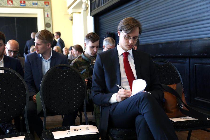 CMI:n analyytikko Mikko Patokallio puhui Isiksen propagandasta torstaina Helsingissä Maanpuolustustiedotuksen suunnittelukunnan MTS:n seminaarissa.