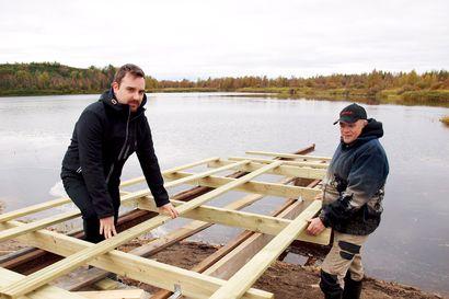Kursun kyläseura avaa esteettömän kalastuspaikan Sallassa