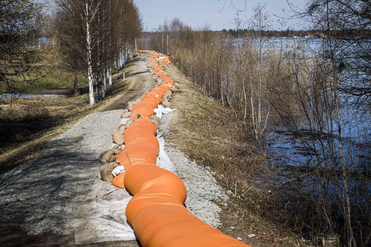 Tornionjoki tulvii toukokuun puolivälissä - Tornionjoen ja Simojoen vesistöjen alueella lumen vesiarvo on keskimääräistä suurempi