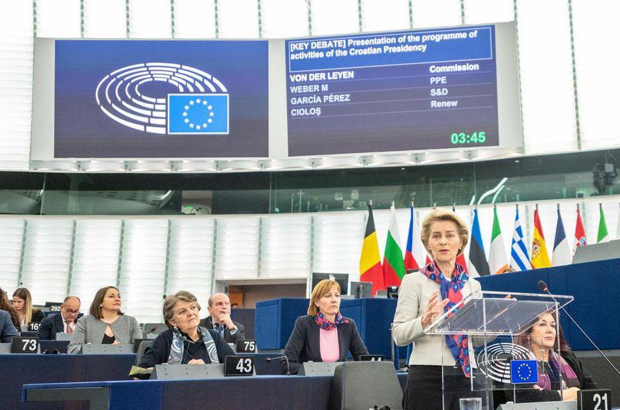 Euroopan komission puheenjohtaja Ursula von der Leyen on esittänyt koko EU:n laajuista minipalkkaa. Keskustelu minipalkasta käynnistyi tiistaina europarlamentissa.