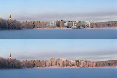 Kumpi näistä rakennetaan Rovaniemen Sairaalanniemeen? Kaavaluonnos esittää kaksi kilpailutöistä tiivistynyttä vaihtoehtoa
