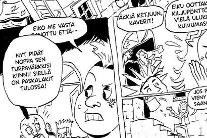 """Oulu haisee kiljulta rujolla punkilla viivoitetussa sarjakuvassa – """"Ilmeisesti se oli jonkinlainen jumalainen interventio"""", Niko-Petteri Niva miettii neljän vuoden prosessin käynnistänyttä tapahtumaa"""