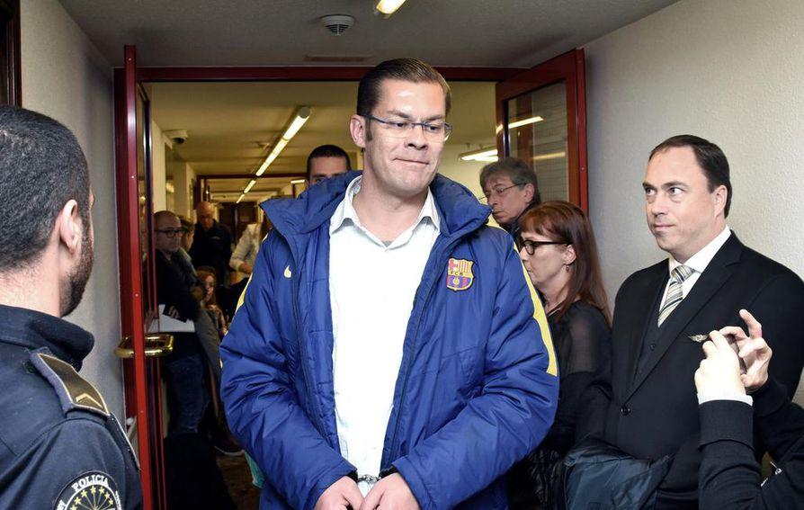Ilja Janitskin vangittiin epäiltynä kahdestatoista eri rikoksesta Helsingissä tiistaina. Tässä kuvassa hän oli luovutusoikeudenkäynnissään Andorrassa 19. lokakuuta 2017.