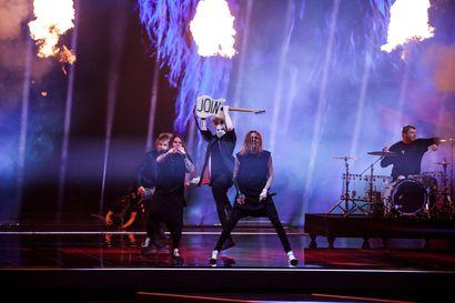 Italian rock-edustaja Måneskin Euroviisujen voittajaksi – 301 pistettä saanut Blind Channel sijoittui kuudenneksi ja nousi hetkellisesti jopa johtoon