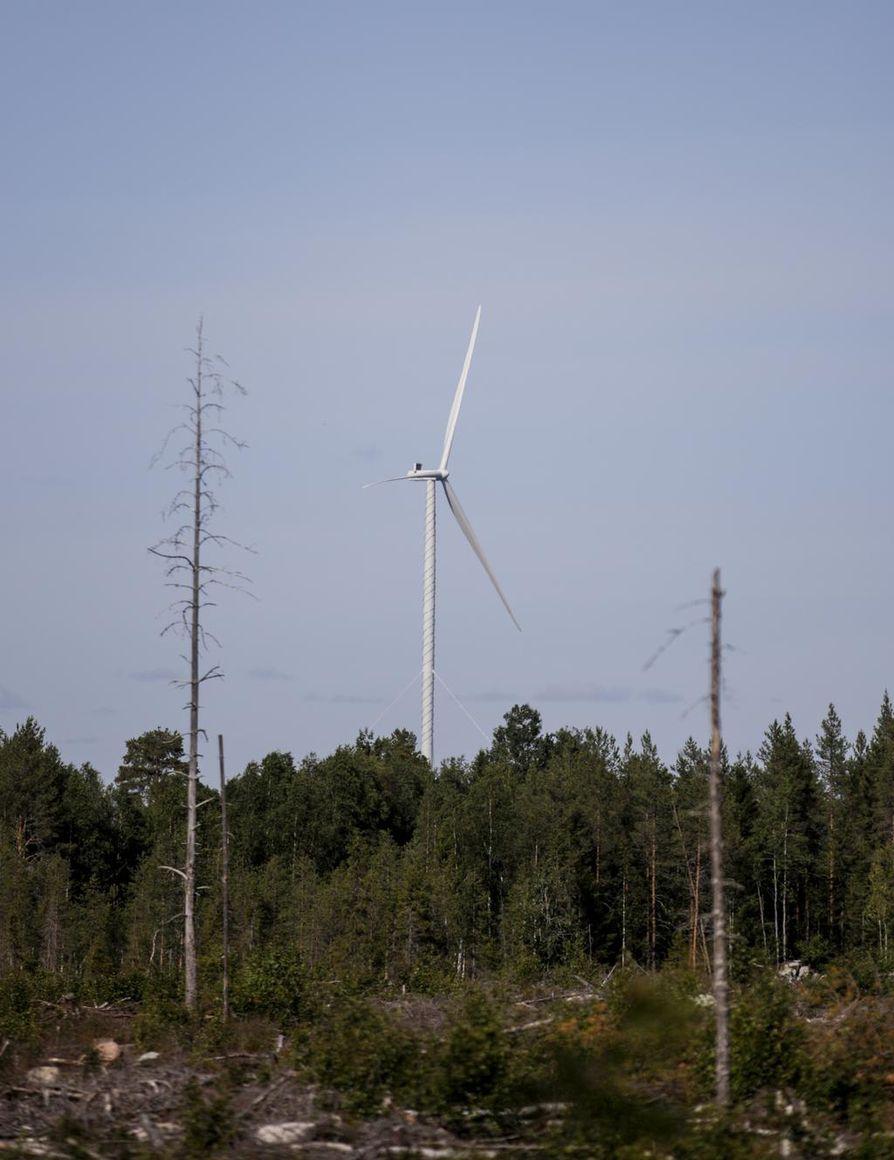 Iissä on rakenteilla viisi tuulivoimalaa alueella jo toimivien kymmenien myllyjen lisäksi. Lisäksi suunnitteilla on moninkertainen määrä voimaloita. Arkistokuva.
