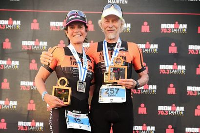 Arctic Triathlonin Leminen-Lahdenperä ja Anunti voittoon Lahden Ironman-kisassa