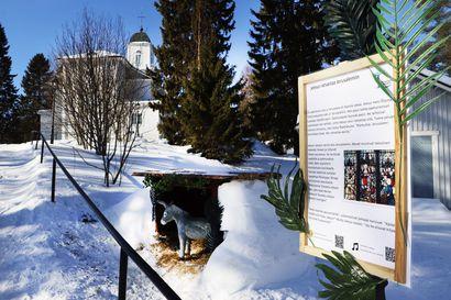 Viimeiset päivät kirkon ympärillä – Taivalkosken seurakunta houkuttelee ihmisiä koronan keskeltä ulos: pääsiäisvaelluksella älyteknologiaa ja lumihauta