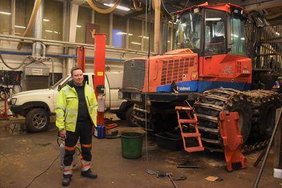 Meijerihallille uusi käyttö – Posion entisen meijerirakennuksen ostanut Oiva Kaivu Oy käyttää tiloja raskaskonekaluston korjaamiseen ja huoltamiseen