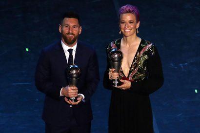 Megan Rapinoe ja Lionel Messi palkittiin Fifan parhaina pelaajina