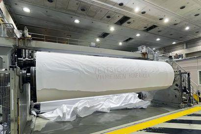 Veitsiluodon viimeinen paperirulla valmistui tänään aamulla kello 8 – työt jatkuvat vielä tehtaalla, mutta paperintuotanto loppui