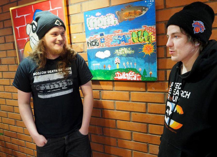 Joonas Niemeläinen ja Teemu Paasovaara aloittivat graffitien teon jo teineinä Oulussa.