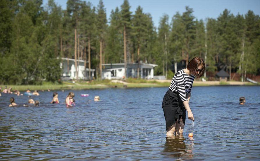 Valkeisjärvessä veden lämpötila nousi