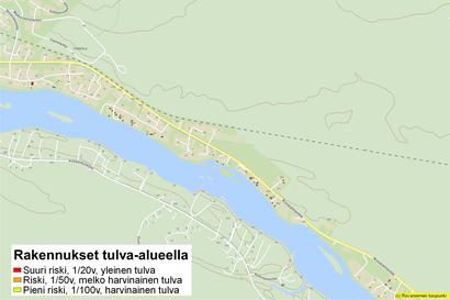 Kaupunki selvitti kiinteistöjen tulvavaaraa – Katso kartasta oman talosi uhka-arvio