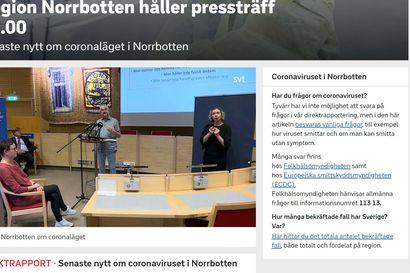 Rajut koronarajoitukset Norrbotteniin  - Asukkaille suositellaan vain välttämättömiä ruokakauppa- ja apteekkikäyntejä 8. joulukuuta saakka