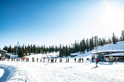 IS: Levillä ja Rukalla yhtä paljon hiihtolomalaisia kuin viime vuonna