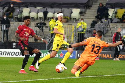 Uskomaton ratkaisu Eurooppa-liigan finaalissa: rangaistuspotkukisassa ammuttiin 22 rankkaria ja maalivahti viimeisteli Villarealin voiton ManU:sta