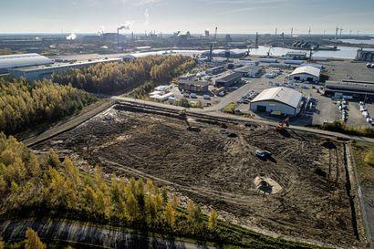 Raahen satamaan valmistui uusia varastokenttiä