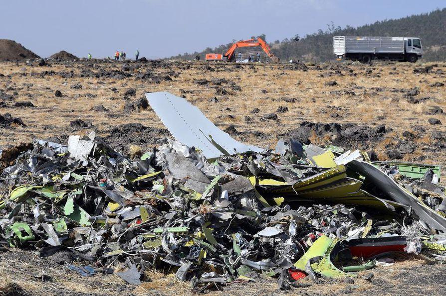 Ethiopian Airlinesin kone syöksyi maahan maaliskuussa. Lentoturmassa kuoli 157 ihmistä.
