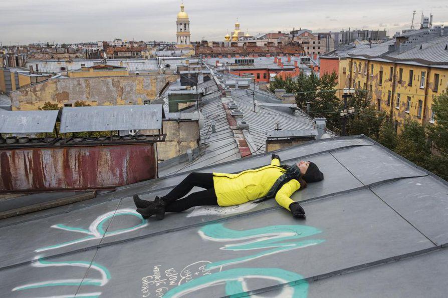 Suurkaupungin katoilla voi myös meditoida.