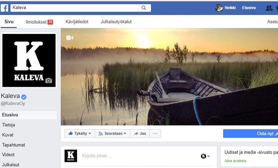 Kalevan Facebook-sivujen taustakuvalla on paljon katsojia ja tykkääjiä.
