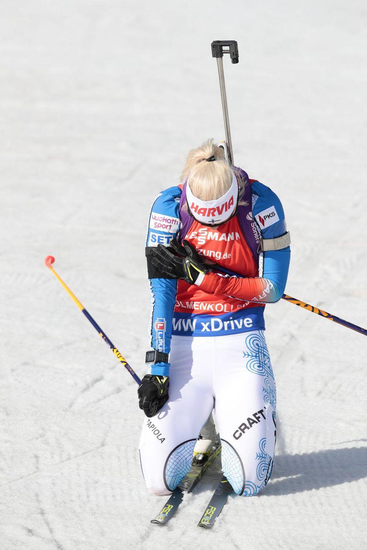 Maalissa Mari Laukkanen muisti sairauskohtaukseen kuollutta valmentaja Asko Nuutista.