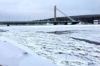 Kemijokeen on muodostunut jo kilometrien mittainen jääpato Rovaniemen kohdalle –Tulee aiheuttamaan ongelmia koko talven