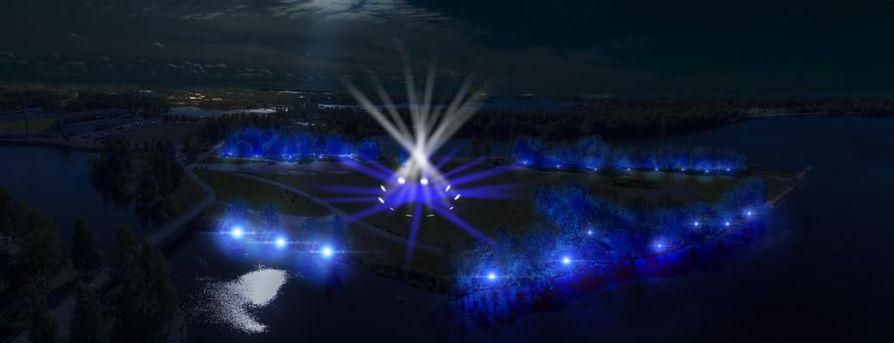 Kuusisaaren valotaideteos toteutetaan joulukuun alussa.
