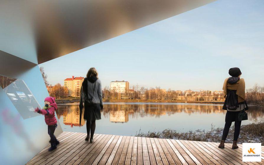 Polku-suunnitelmassa Lammassaaresta tehtäisiin puistoalue, jonne tehtäisiin käytäviä ja näköalapaikkoja. Lammassaari toimisi hiljentymispaikkana.