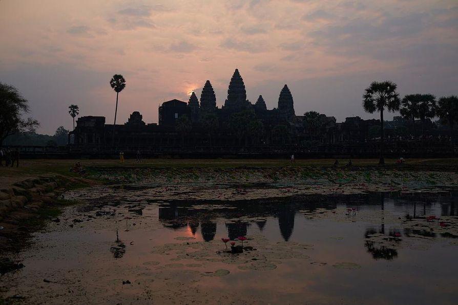 Angkor Watin temppelialueella riitti kierrettävää useaksi päiväksi.
