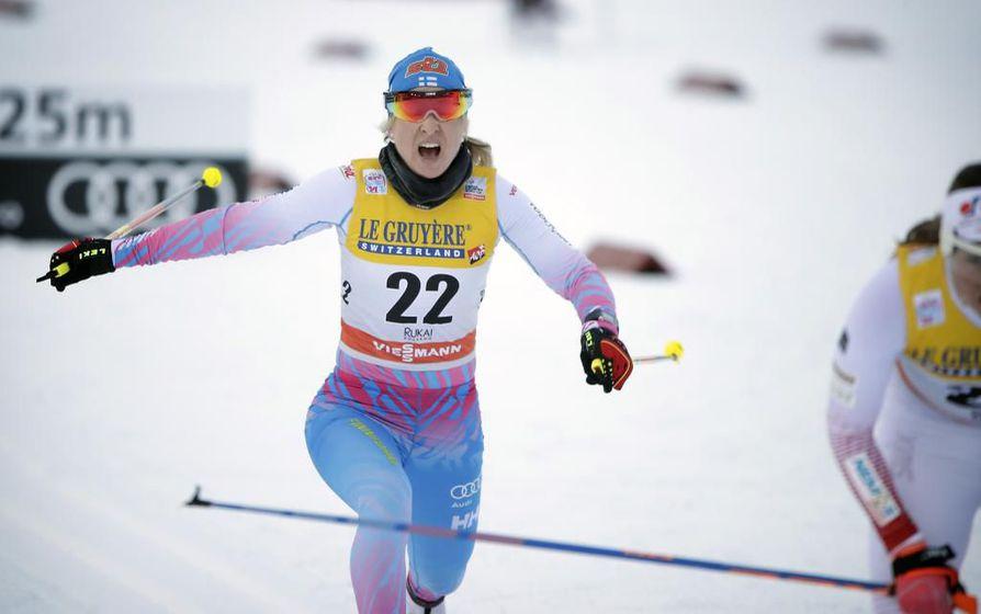 Riitta-Liisa Roponen voitti Suomen mestaruuden Vantaalla. Arkistokuva.