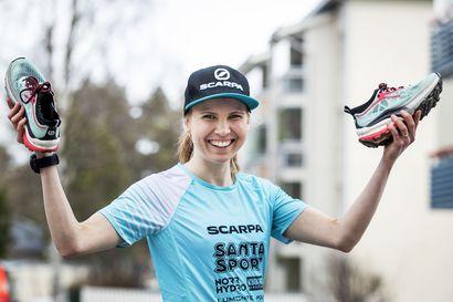 """Rovaniemeläinen Susanna Saapunki vaihtoi hiihdon vuorijuoksuammattilaisuuteen: """"En ole koskaan ollut näin väsynyt – olo on kuin koomassa"""""""