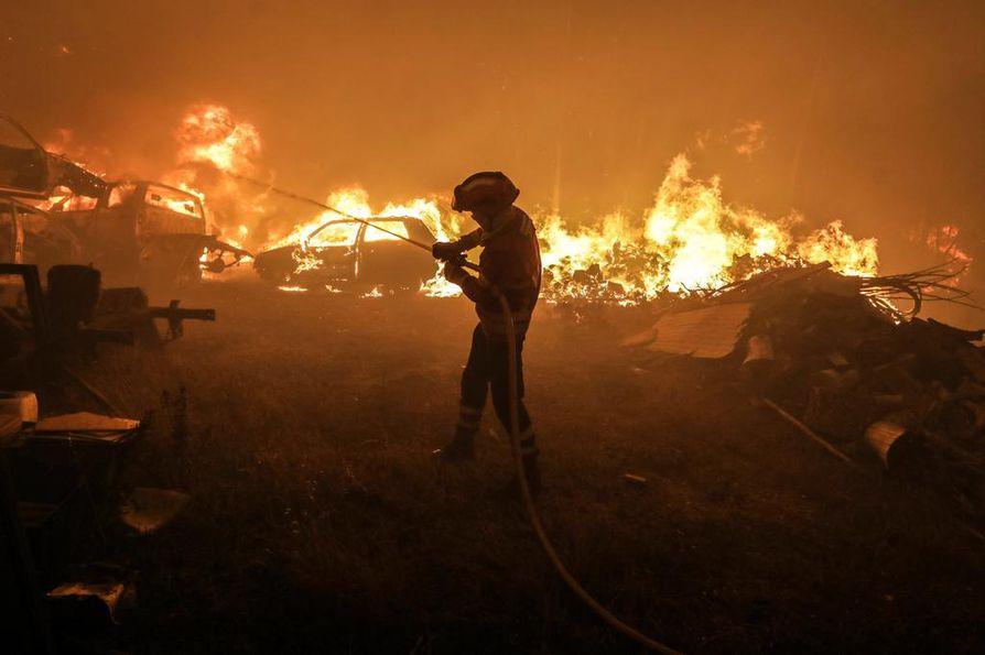 Portugalin laajaa metsäpaloa on sammutettu viime yönä vielä yli 2000 palomiehen voimin.
