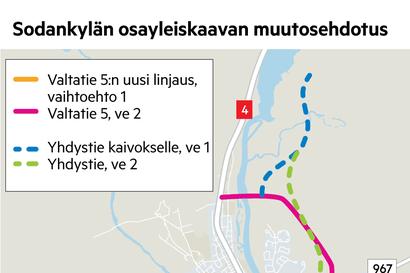 Sodankylän osayleiskaavan muutos vireille – viitostielle uusi linjaus ja varaus tievaihtoehdoille Sakatin kaivokseen