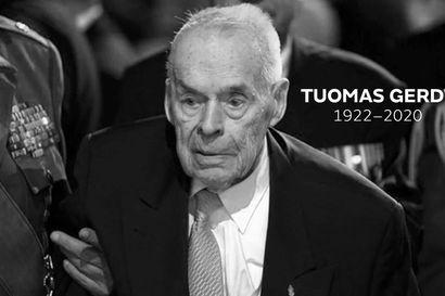 Viimeinen Mannerheim-ristin ritari Tuomas Gerdt, 98, on kuollut – oli tuttu näky itsenäisyyspäivän vastaanotolla