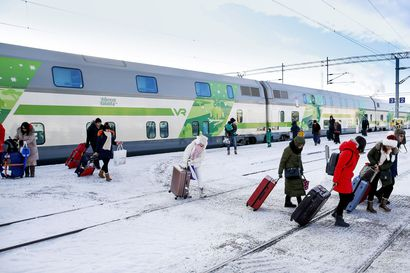 Hiihtolomasesonki täyttää junat – VR odottaa juniin yhteensä 750 000 matkustajaa, Lapista lähtevä liikenne vilkkaimmillaan ensi viikolla