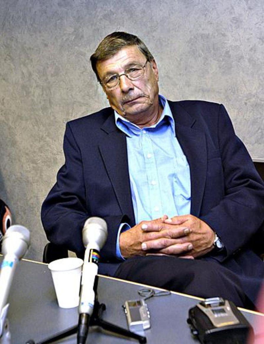 Nils Gustafsson Bodom-oikeudenkäynnissä.