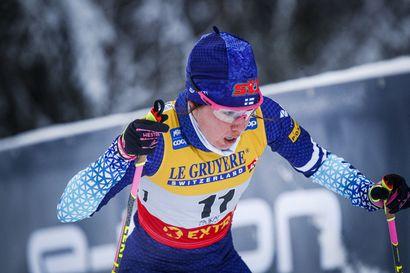 Suomen naiset tipahtivat vapaan osuuksilla kärjestä – Therese Johaug riuhtaisi maailmancupin viestivoiton Norjaan