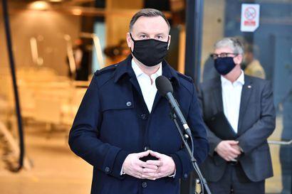 Puolan presidentti sairastui koronavirukseen